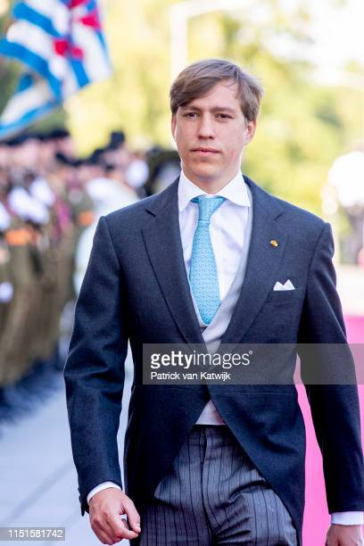Prince Louis of Luxembourg arrives at the Philiarmonie for the concert on the National Day on June 23 2019 in Luxembourg Luxembourg