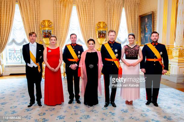 Prince Louis of Luxembourg Hereditary Grand Duchess Stephanie of Luxembourg Hereditary Grand Duke Guillaumeof Luxembourg Grand Duchess Maria Teresa...