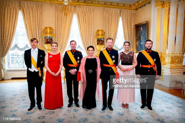 Prince Louis of Luxembourg, Hereditary Grand Duchess Stephanie of Luxembourg, Hereditary Grand Duke Guillaumeof Luxembourg, Grand Duchess Maria...