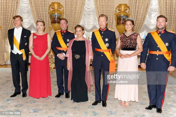 Prince Louis of Luxembourg Hereditary Grand Duchess Stephanie of Luxembourg Hereditary Grand Duke Guillaume of Luxembourg Grand Duchess Maria Teresa...