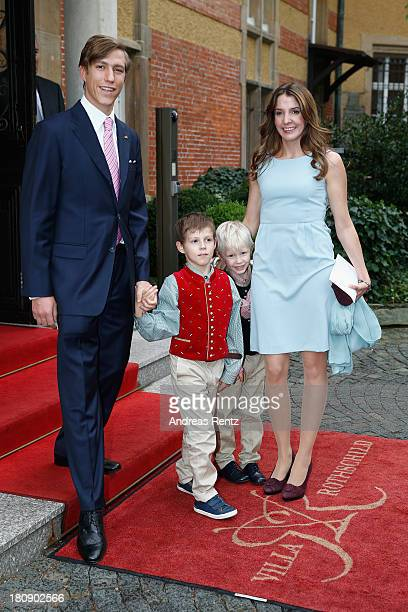 Prince Louis of Luxembourg Prince Gabriel of Luxembourg Prince Noah of Luxmebourg and Princess Tessy of Luxembourg arrive at their Civil Wedding...