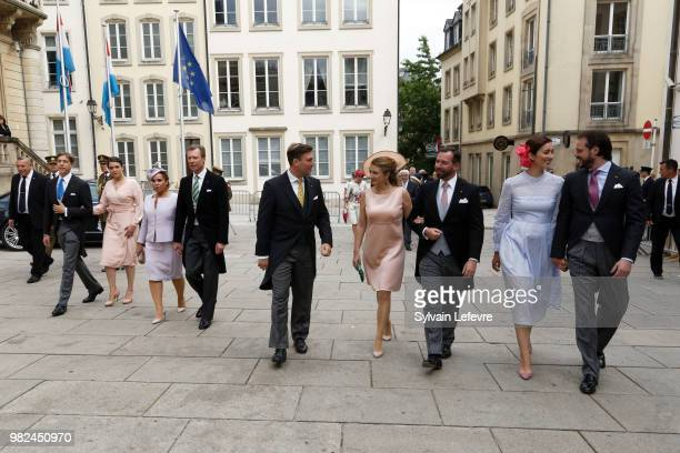 Prince Louis of Luxembourg Princess Alexandra of Luxembourg Grand Duchess Maria Teresa of Luxembourg and Grand Duke Henri of Luxembourg Prince...