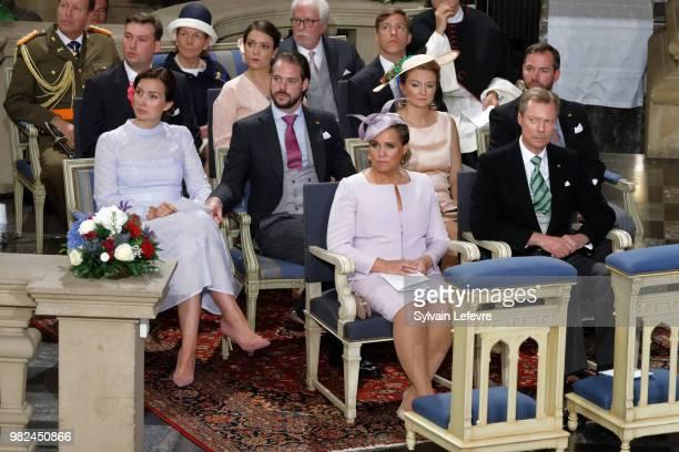Prince Louis of Luxembourg Princess Alexandra of Luxembourg Prince Sebastien of Luxembourg Grand Duchess Maria Teresa of Luxembourg and Grand Duke...