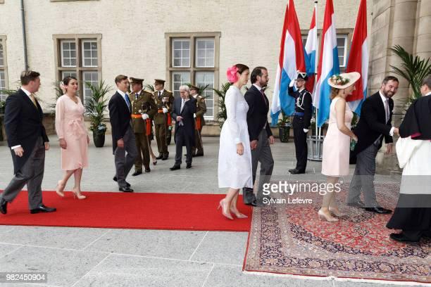 Prince Louis of Luxembourg Princess Alexandra of Luxembourg Prince Sebastien of LuxembourgPrincess Claire of Luxembourg and Prince Felix of...