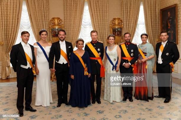 Prince Louis of Luxembourg, Princess Claire of Luxembourg and Prince Felix of Luxembourg, Grand Duchess Maria Teresa of Luxembourg and Grand Duke...