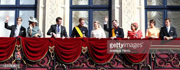 Prince Louis of Luxembourg, Princess Tessy of Luxembourg, Prince Felix of Luxembourg, Grand Duke Henri of Luxembourg, Princess Stephanie of...