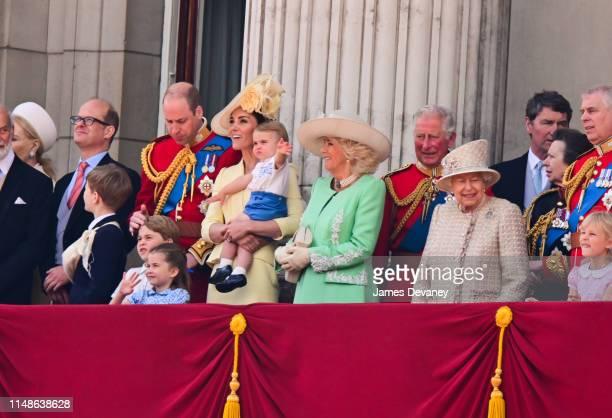 Prince Louis Prince George Prince William Duke of Cambridge Princess Charlotte Catherine Duchess of Cambridge Camilla Duchess of Cornwall Prince...