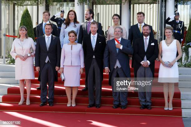 Prince Louis Princess Claire and Prince Felix Princess Alexandra Prince Sebastien Luxembourg city's mayor Lydie Polfer Luxembourg's Prime Minister...