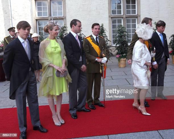Prince Louis, Princess Tessy, Prince Felix, Prince Guillaume, Grand Duchess Maria Teresa and Grand Duke Henri and Prince Sebastien from Luxembourg...