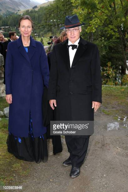Prince Ludwig of Bavaria and his wife Beatrix of Bavaria during the wedding of Prince Konstantin of Bavaria and Princess Deniz of Bavaria born Kaya...