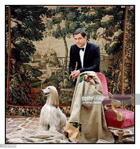 Prince Luis Alfonso de Borbon, Duke of Anjou poses for Vanity Fair - Spain on March 29, 2011 at at the Palacio de Fernan Nunez in Madrid, Spain....