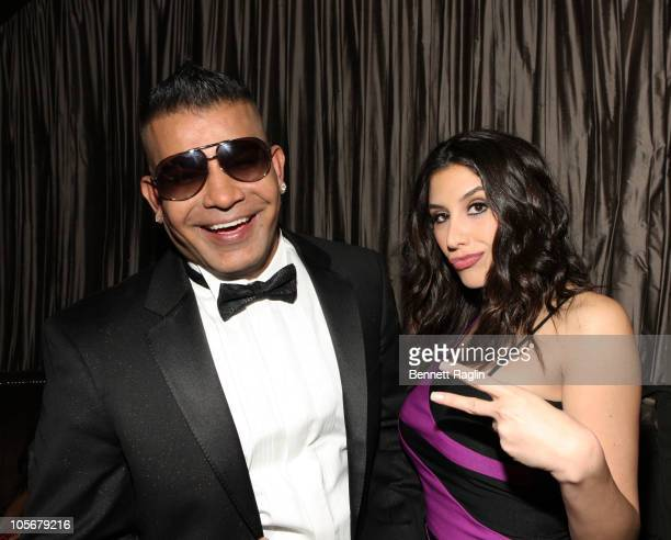 Prince Malik and Diana Falzone attend the Prince Malik Records label launch party at 1OAK on October 18 2010 in New York City