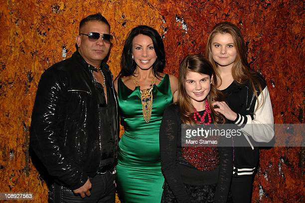 Prince Malik Danielle Staub Jillian Staub and Christine Staub attend Social Launch Party at Greenhouse on February 8 2011 in New York City