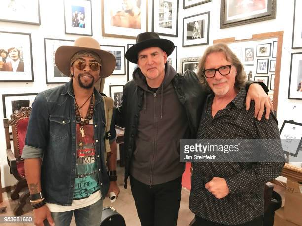 Prince manager Owen Husney has a book book signing at Mr Musichead Gallery in Los Angeles California on April 26 2018 Andre Cymone Peter Himmelman...