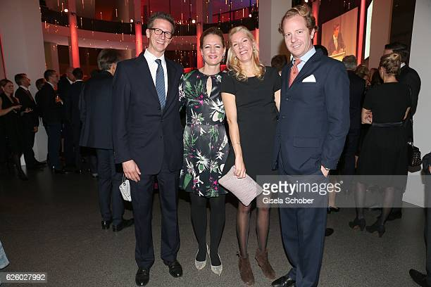 Prince Manuel von Bayern and his wife Princess Anna von Bayern his sister Felipa von Bayern and her husband Christian Dienst during the PIN Party...