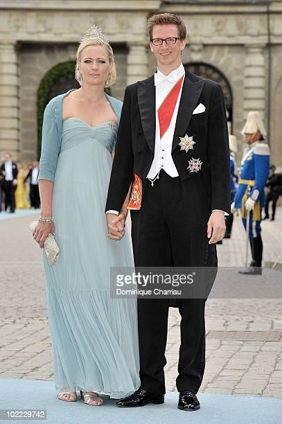 Prince Manuel von Bayern and Princess Anna von Bayern attend the wedding of Crown Princess Victoria of Sweden and Daniel Westling on June 19 2010 in...
