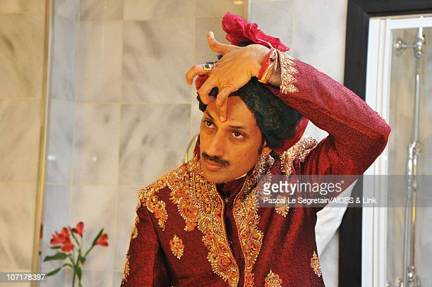 Prince Manvendra Singh Gohil prepares for AIDES Gala Dinner on November 27 2010 in Paris France
