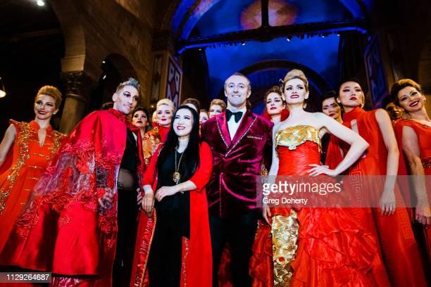 Prince MarioMax Kenn Gray and Designer Kiki Wang at the Sanctuary Fashion Week on March 7 2019 in Los Angeles California