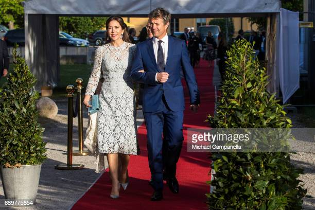 Prince Mary of Denmark and Prince Frederik of Denmark attend an official dinner at Eric Ericssonhallen on May 29 2017 in Stockholm Sweden