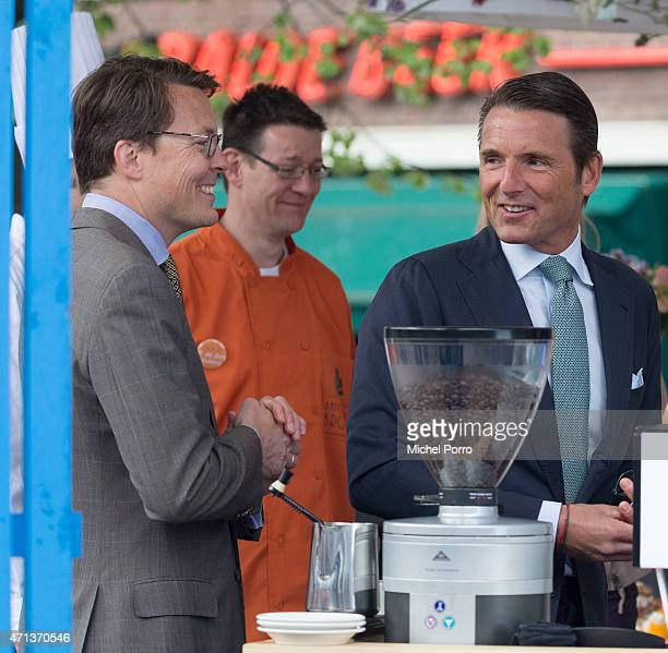 Prince Maurits and Prince Constantijn of The Netherlands participate in King's Day on April 27 2015 in Dordrecht Netherlands