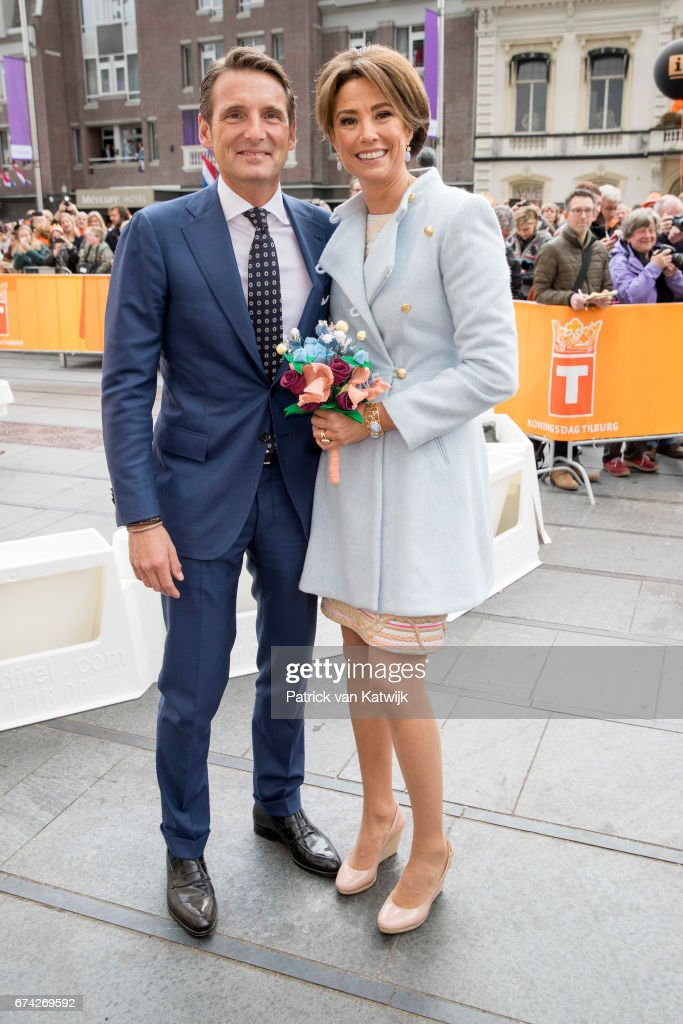 Prince Maurits and Princess Marilene of The Netherlands attend the King's 50th birthday during the Kingsday celebrations on April 27, 2017 in Tilburg, Netherlands.
