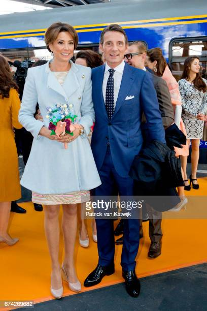 Prince Maurits and Princess Marilene of The Netherlands attend the King's 50th birthday during the Kingsday celebrations on April 27 2017 in Tilburg...