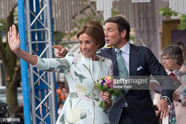 R Prince Maurits and Princess Marilene of The Netherlands participate in King's Day on April 27 2015 in Dordrecht Netherlands