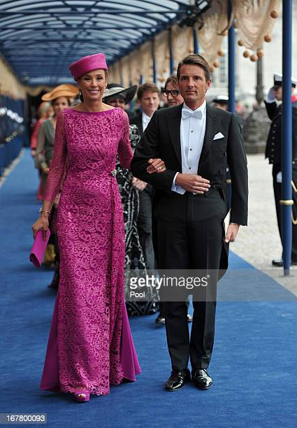Prince Maurits of the Netherlands and MarieHelene Angela van den Broek leave following the inauguration ceremony for HM King Willem Alexander of the...