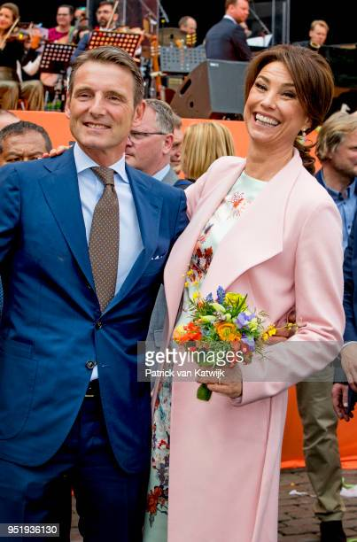 Prince Maurits of The Netherlands and Princess Aimee of The Netherlands during the Kingsday celebration on April 27 2018 in Groningen Netherlands