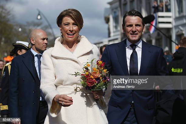 Prince Maurits of The Netherlands and Princess Marilene of The Netherlands attend King's Day the celebration of the birthday of the Dutch King on...