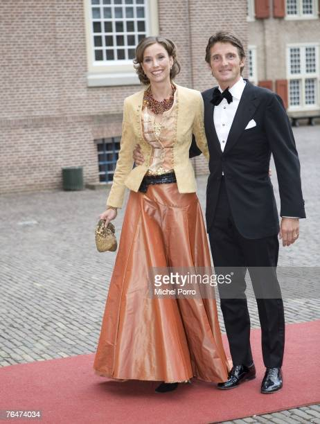 Prince Maurits of The Netherlands and Princess Marilene of The Netherlands arrive to attend celebrations marking the 40th birthday of Dutch Crown...