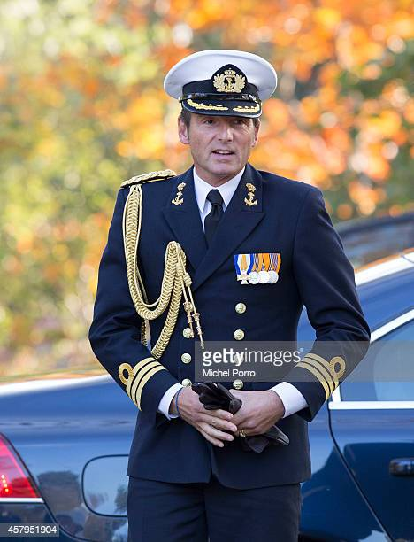 Prince Maurits of The Netherlands attends a ceremony at the Canadian War Memorial on October 27 2014 in Bergen op Zoom The Netherlands Canadian...