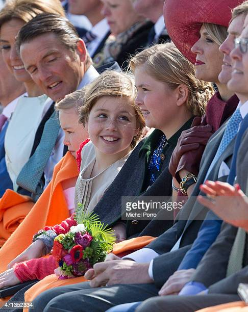 R Prince Maurits Princess Ariane Princess Alexia Crown Princess CatharinaAmalia and Queen Maxima of The Netherlands participate in King's Day on...
