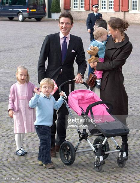 Prince Maurits Princess Marilene Children Anna Lucas Felicia Attend The Christening Of Prince Constantijn Princess Laurentien Of The Netherlands...