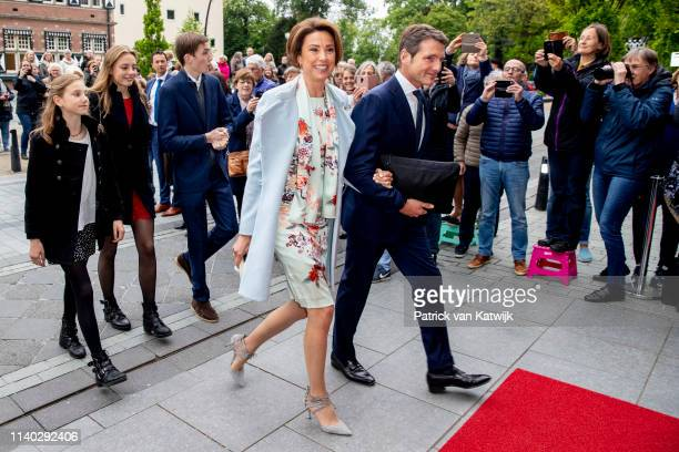 Prince Maurits Princess Marilene of The Netherlands and their children Anna Lucas and Felicia attends the 80th birthday celebrations for Pieter van...