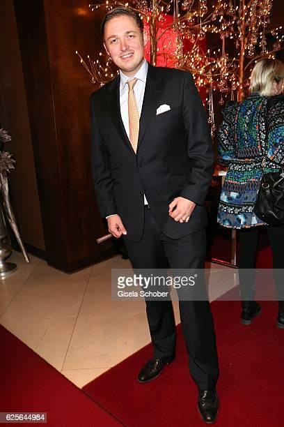 Prince Max Maximilian zu SaynWittgensteinBerleburg during the christmas party at Hotel Vier Jahreszeiten Kempinski on November 24 2016 in Munich...