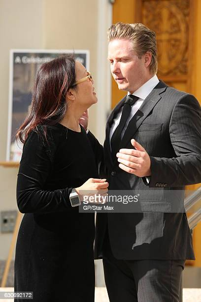 Prince Maximilian Ferdinand Von Anhalt is seen on December 30 2016 at the funeral of Zsa Zsa Gabor in Los Angeles California