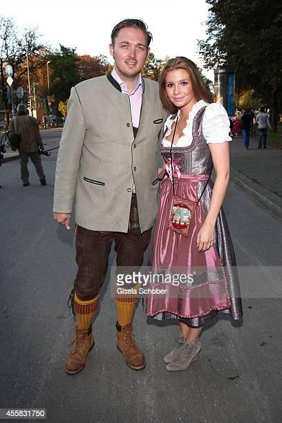 Prince Maximilian zu Sayn Wittgenstein Berleburg and his girlfriend Franziska Balzer attend 'Laureus Wiesn' during Oktoberfest Opening at...