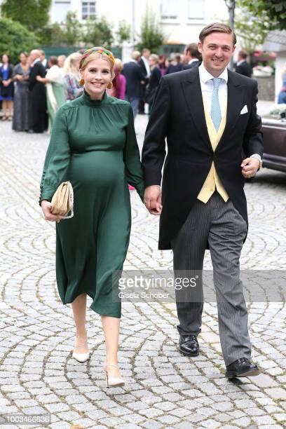 Prince Maximilian zu SaynWittgensteinBerleburg and his wife Princess Franziska zu Sayn Wittgenstein Berleburg during the wedding of Princess Theodora...