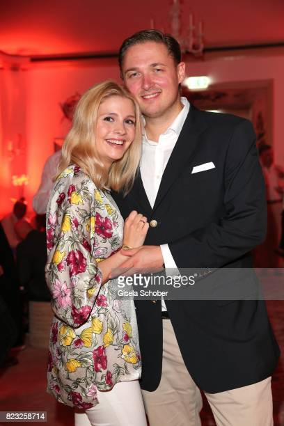 Prince Maximilian zu SaynWittgensteinBerleburg and his wife Princess Franziska zu SaynWittgensteinBerleburg during the Hotel Vier Jahreszeiten summer...