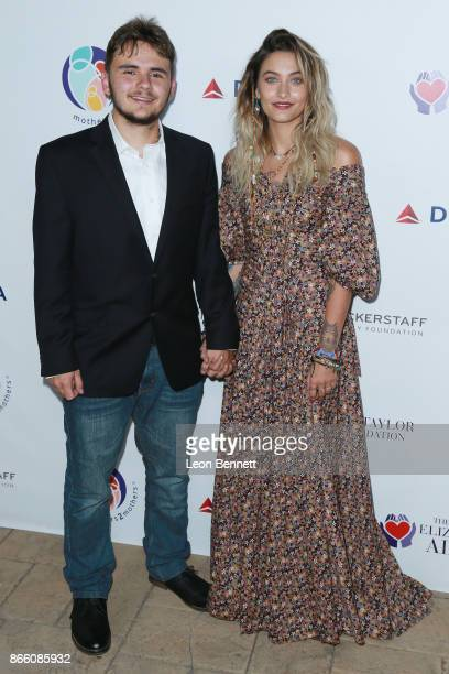 Prince Michael and Paris Jackson attends the Zac Posen And Paris Jackson Host Event Supporting mothers2mothers And ETAF on October 24 2017 in Beverly...