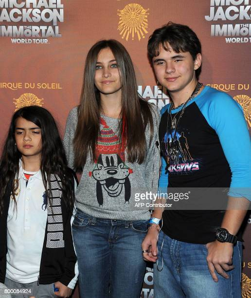 Prince Michael Blanket Jackson Paris Jackson and Prince Jackson arrive at the Michael Jackson The Immortal World Tour in Los Angeles California on...