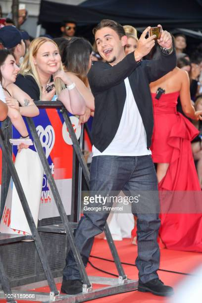 Prince Michael Jackson arrives at the 2018 iHeartRADIO MuchMusic Video Awards at MuchMusic HQ on August 26 2018 in Toronto Canada