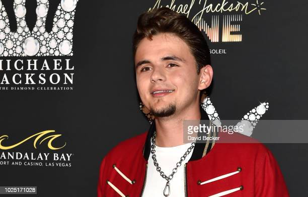 Prince Michael Jackson attends the Michael Jackson diamond birthday celebration at Mandalay Bay Resort and Casino on August 29 2018 in Las Vegas...