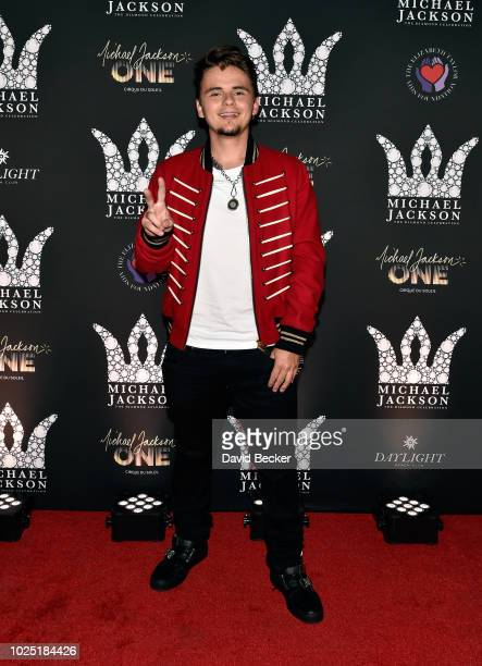 Prince Michael Jackson attends the Michael Jackson diamond birthday celebration at Daylight Beach Club at Mandalay Bay Resort and Casino on August 29...