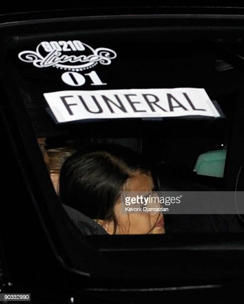 Prince Michael Jackson II arrives at Michael Jackson's funeral service held at Glendale Forest Lawn Memorial Park on September 3 2009 in Glendale...