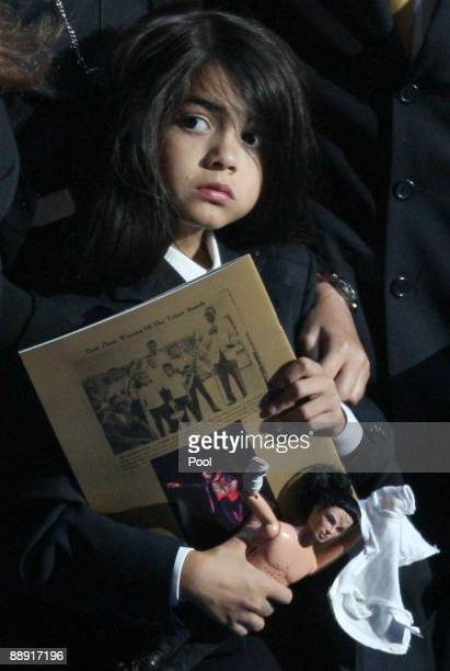 Prince Michael Jackson II onstage during the Michael Jackson public memorial service held at Staples Center on July 7 2009 in Los Angeles California...