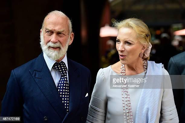 Prince Michael of Kent and his wife Marie Christine von Reibnitz the official opening of the 'Der Weg zur Krone Das Koenigreich Hannover und seine...