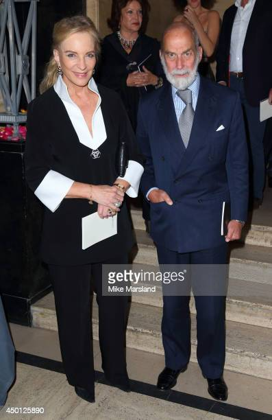 Prince Michael of Kent and HRH Princess Michael of Kent attend the launch party for Elephants Family 'In Giants Footsteps' at Victoria House on June...