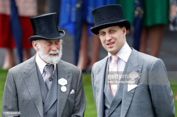 Prince Michael of Kent and Lord Frederick Windsor attend day three, Ladies Day, of Royal Ascot at Ascot Racecourse on June 20, 2019 in Ascot, England.